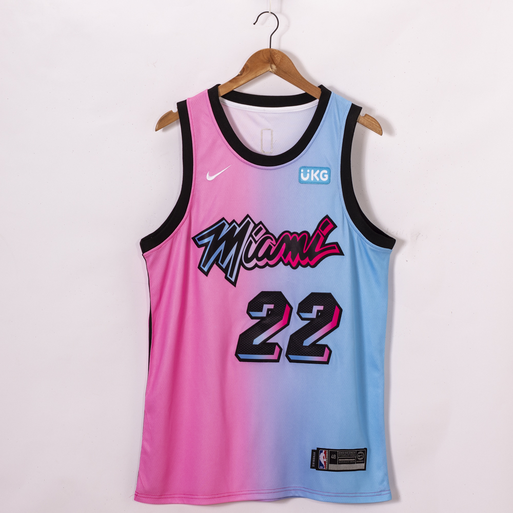 Cheap Men Miami Heat 22 Butler pink fahion new Nike NBA limited Jerseys