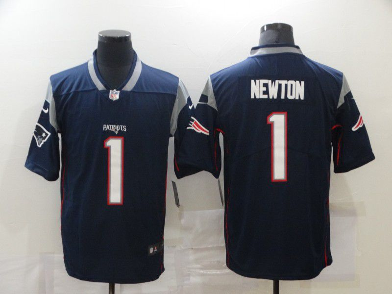 Wholesale Men New England Patriots 1 Newton Blue Nike Vapor Untouchable Limited 2020 NFL Nike Jerseys