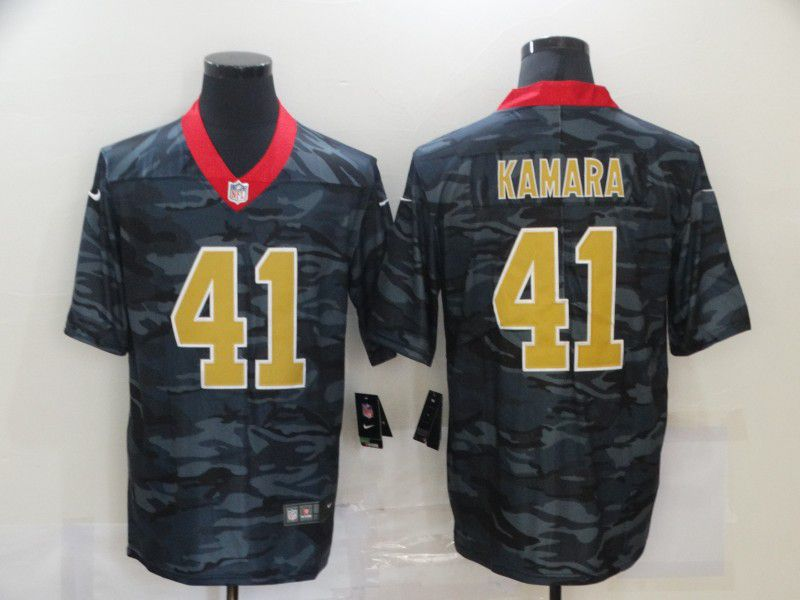 Wholesale Men New Nike New Orleans Saints 41 Kamara 2020 Nike 2ndCamo Salute to Service Limited