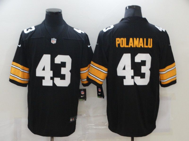 Wholesale Men Pittsburgh Steelers 43 Polamalu Black Nike Vapor Untouchable Limited 2020 NFL Nike Jerseys