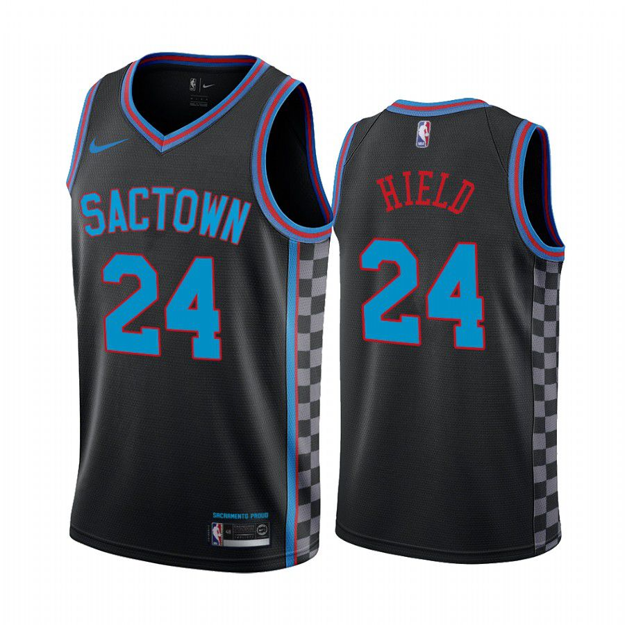 Wholesale Men Sacramento Kings 24 buddy hield black city edition sactown 2020 nba jersey