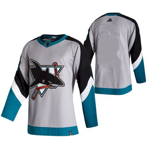 Cheap Men San Jose Sharks Blank White NHL 2021 Reverse Retro jersey