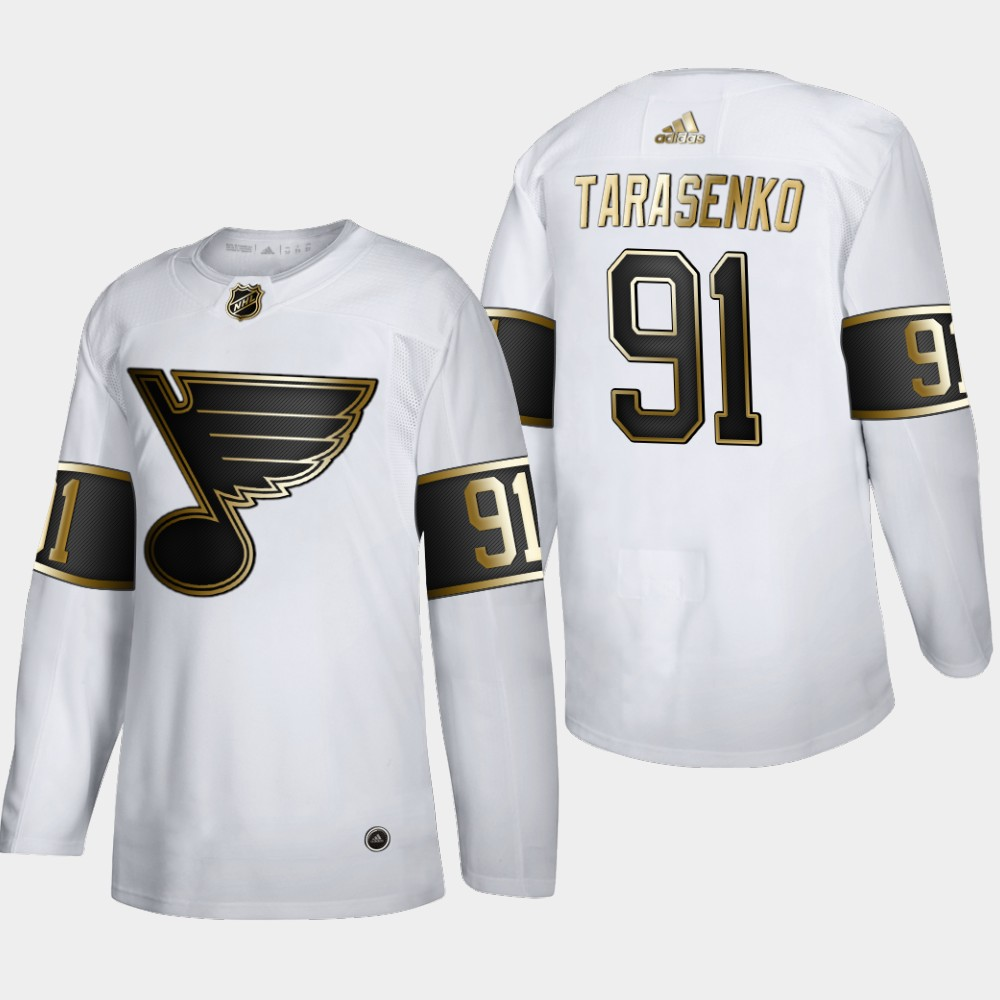 Wholesale Men St. Louis Blues 91 Vladimir Tarasenko Adidas White Golden Edition Limited Stitched NHL Jersey