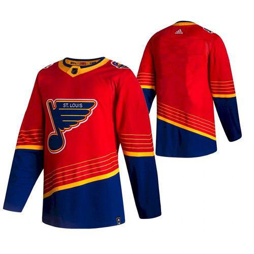 Cheap Men St. Louis Blues Blank red NHL 2021 Reverse Retro jersey