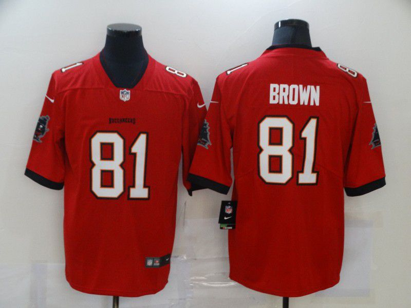Cheap Men Tampa Bay Buccaneers 81 Brown Red Nike Vapor Untouchable Limited 2020 NFL Nike Jerseys
