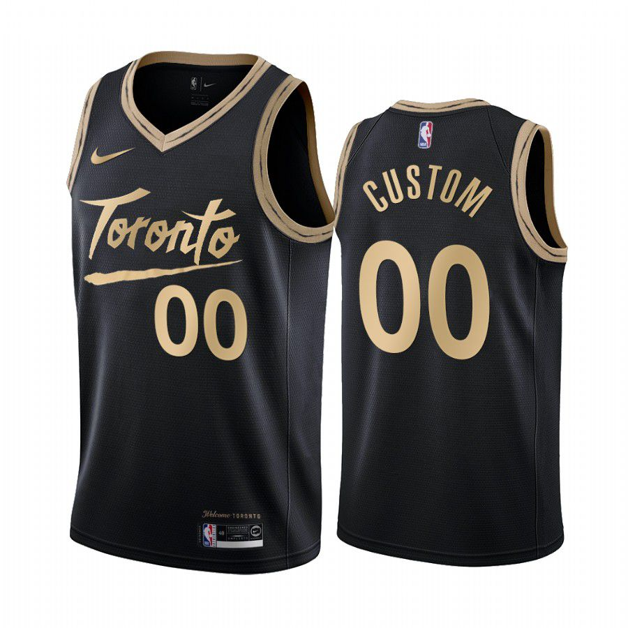 Cheap Men Toronto Raptors 00 custom black city edition 2020 nba jersey