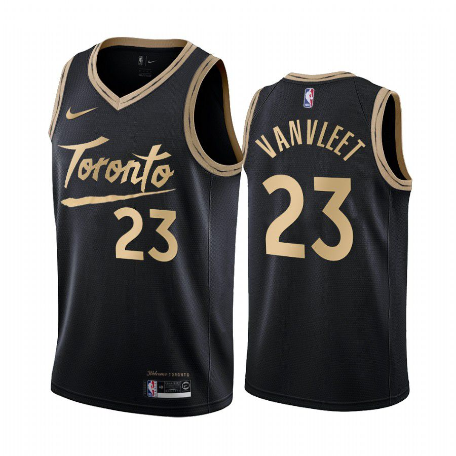 Cheap Men Toronto Raptors 23 fred vanvleet black city edition 2020 nba jersey