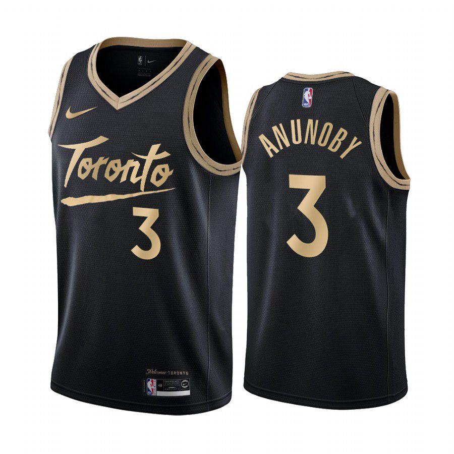 Cheap Men Toronto Raptors 3 og anunoby black city edition 2020 nba jersey