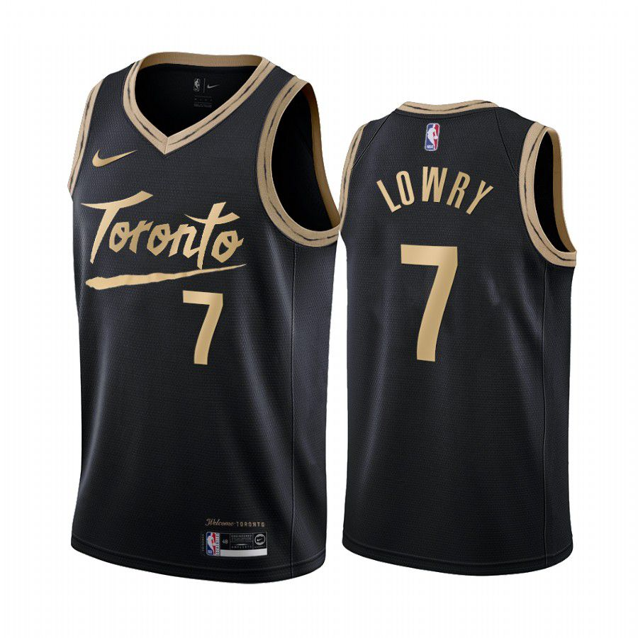 Cheap Men Toronto Raptors 7 kyle lowry black city edition 2020 nba jersey