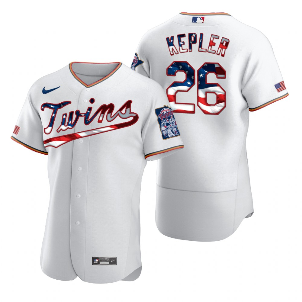 Wholesale Minnesota Twins 26 Max Kepler Men Nike White Fluttering USA Flag Limited Edition Authentic MLB Jersey