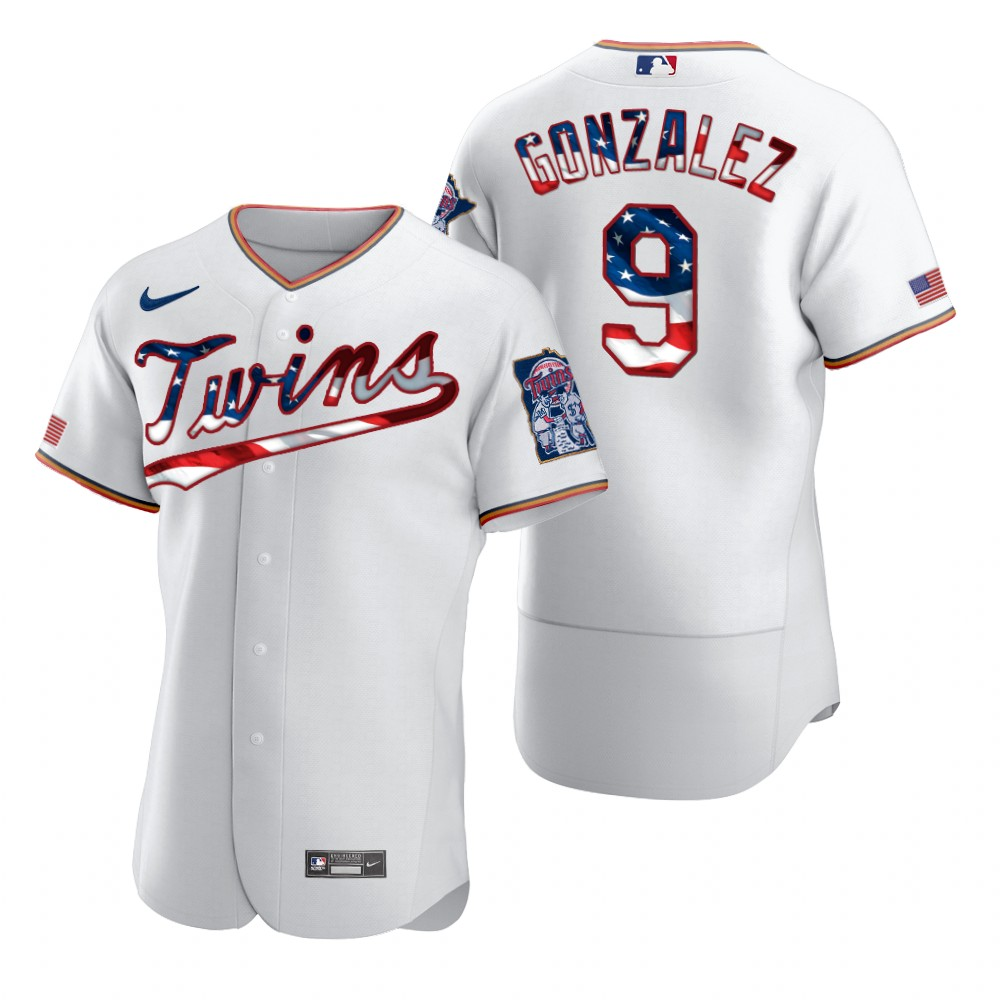Wholesale Minnesota Twins 9 Marwin Gonzalez Men Nike White Fluttering USA Flag Limited Edition Authentic MLB Jersey