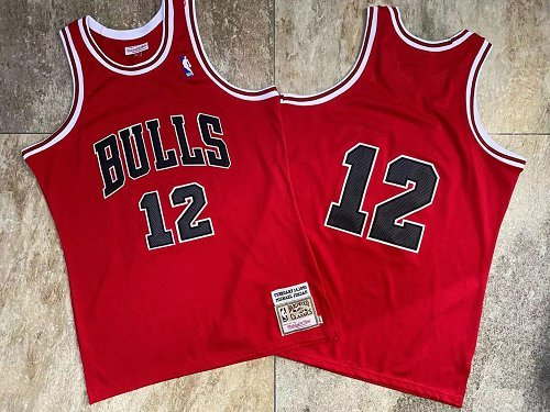 Wholesale NBA Chicago Bulls 12 Jordan red Jerseys