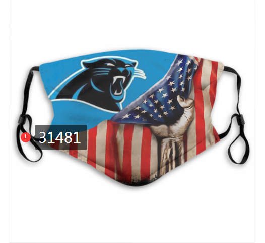 Cheap NFL 2020 Carolina Panthers 105 Dust mask with filter