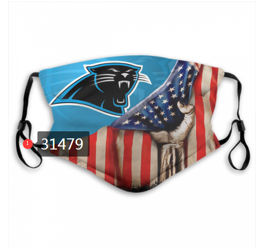 Cheap NFL 2020 Carolina Panthers 107 Dust mask with filter