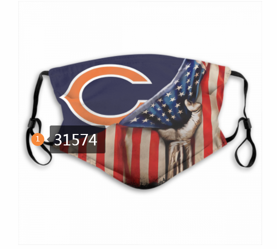 Cheap NFL 2020 Chicago Bears 12 Dust mask with filter