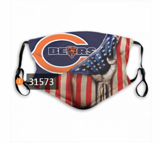 Cheap NFL 2020 Chicago Bears 13 Dust mask with filter