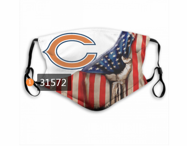 Cheap NFL 2020 Chicago Bears 14 Dust mask with filter