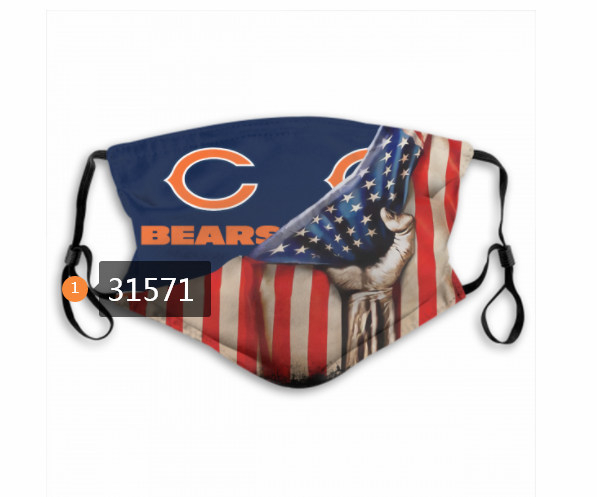 Cheap NFL 2020 Chicago Bears 15 Dust mask with filter