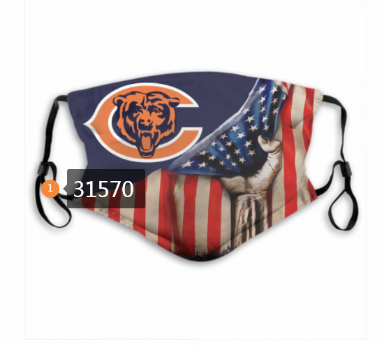 Cheap NFL 2020 Chicago Bears 16 Dust mask with filter