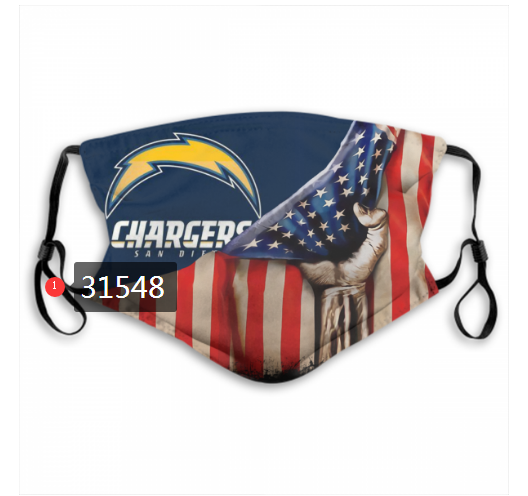 Cheap NFL 2020 Los Angeles Chargers 38 Dust mask with filter
