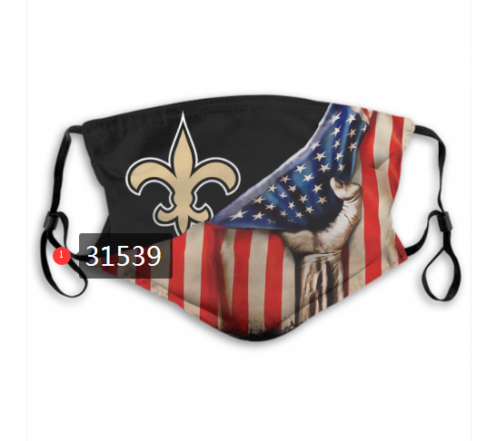 Wholesale NFL 2020 New Orleans Saints 47 Dust mask with filter