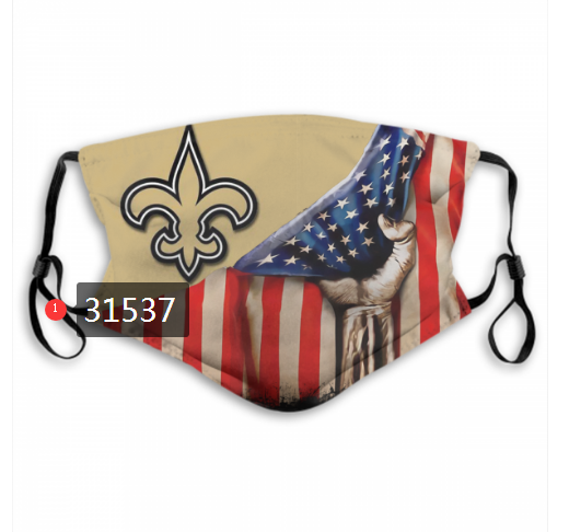 Wholesale NFL 2020 New Orleans Saints 49 Dust mask with filter