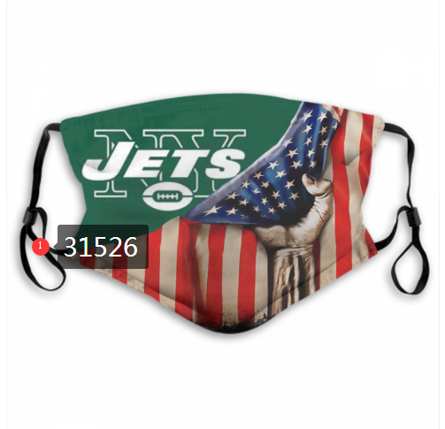 Wholesale NFL 2020 New York Jets 60 Dust mask with filter