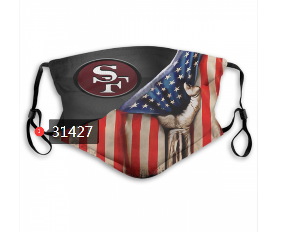 Cheap NFL 2020 San Francisco 49ers 159 Dust mask with filter