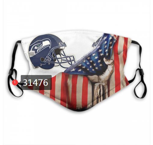 Wholesale NFL 2020 Seattle Seahawks 110 Dust mask with filter