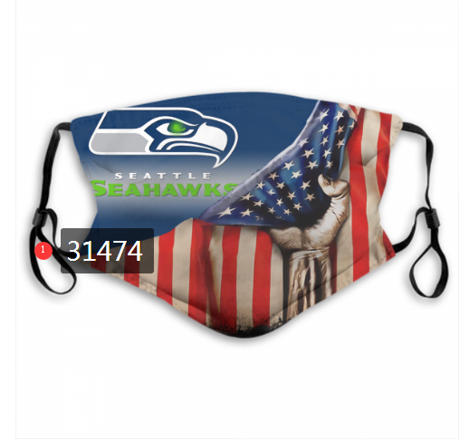 Wholesale NFL 2020 Seattle Seahawks 112 Dust mask with filter