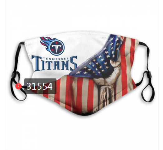 NFL 2020 Tennessee Titans 32 Dust mask with filter