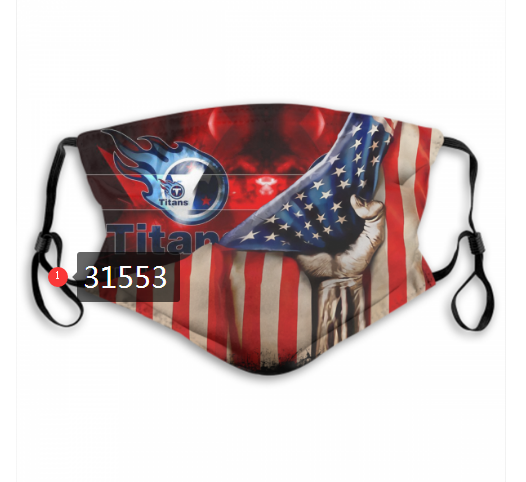 NFL 2020 Tennessee Titans 33 Dust mask with filter