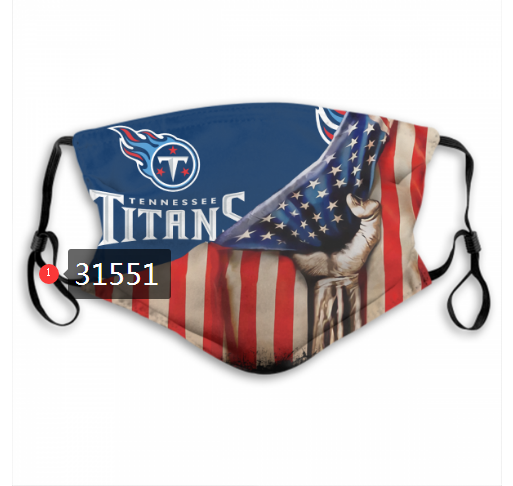 NFL 2020 Tennessee Titans 35 Dust mask with filter
