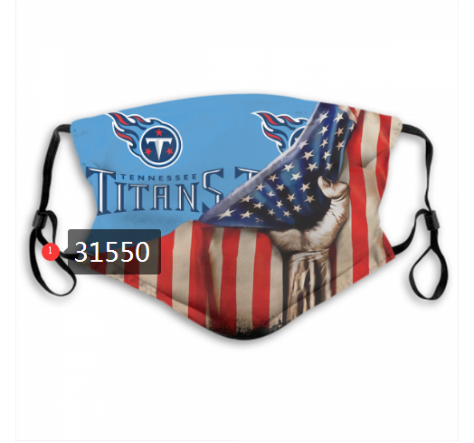 NFL 2020 Tennessee Titans 36 Dust mask with filter