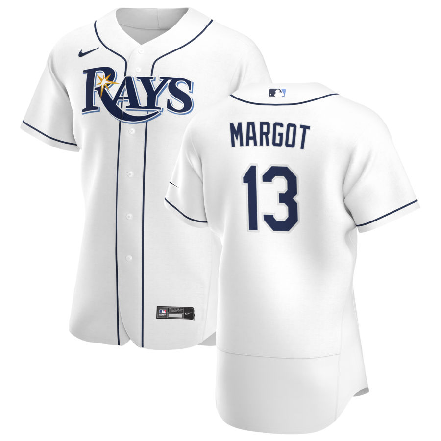 Wholesale Tampa Bay Rays 13 Manuel Margot Men Nike White Home 2020 Authentic Player MLB Jersey