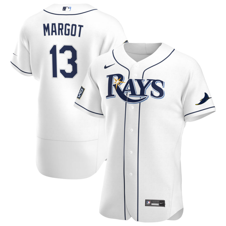 Wholesale Tampa Bay Rays 13 Manuel Margot Men Nike White Home 2020 World Series Bound Authentic Player MLB Jersey