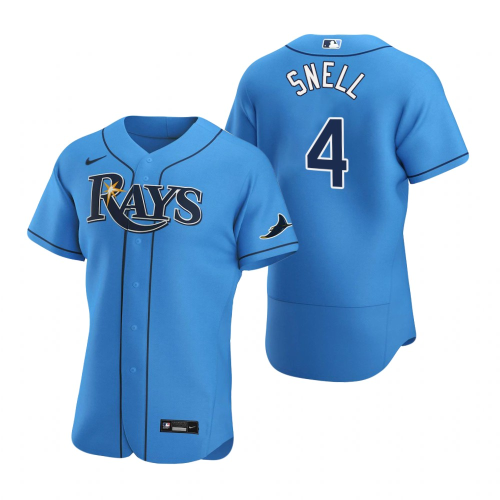 Cheap Tampa Bay Rays 4 Blake Snell Men Nike Light Blue Alternate 2020 Authentic Player MLB Jersey
