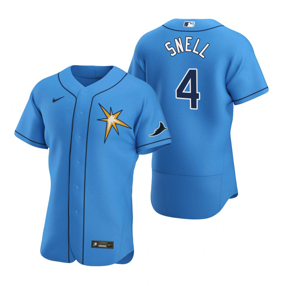 Wholesale Tampa Bay Rays 4 Blake Snell Men Nike Light Blue Alternate 2020 Authentic Team MLB Jersey