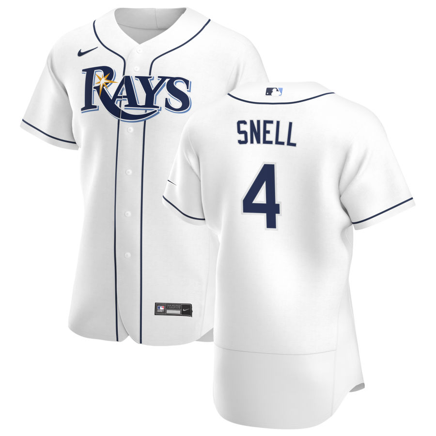 Wholesale Tampa Bay Rays 4 Blake Snell Men Nike White Home 2020 Authentic Player MLB Jersey