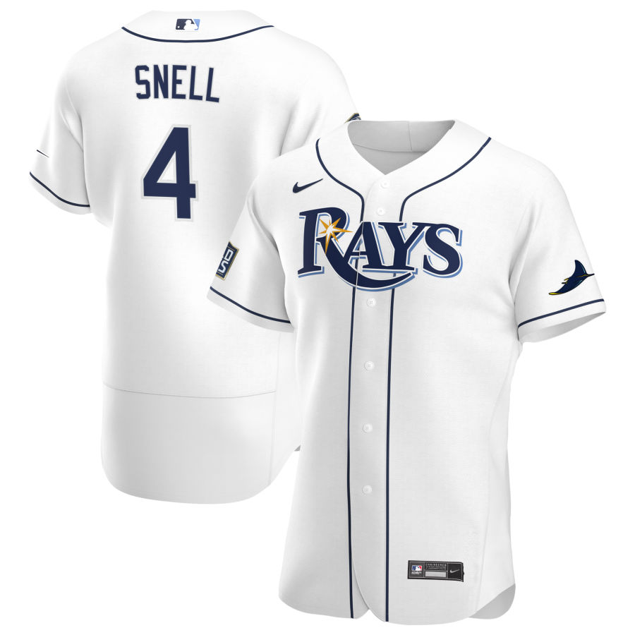 Wholesale Tampa Bay Rays 4 Blake Snell Men Nike White Home 2020 World Series Bound Authentic Player MLB Jersey