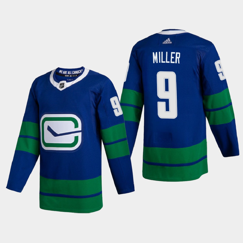Cheap Vancouver Canucks 9 JT Miller Men Adidas 2020 Authentic Player Alternate Stitched NHL Jersey Blue