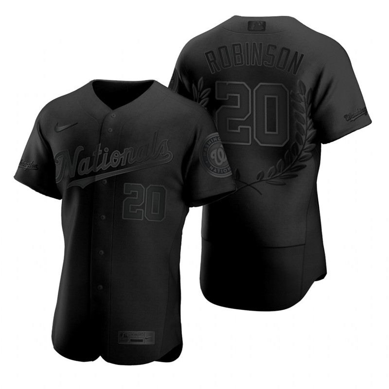 Wholesale Washington Nationals 20 Frank Robinson Men Nike Black MLB MVP Limited Player Edition Jersey