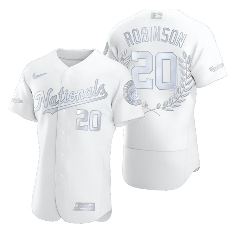 Wholesale Washington Nationals 20 Frank Robinson Men Nike Platinum MLB MVP Limited Player Edition Jersey