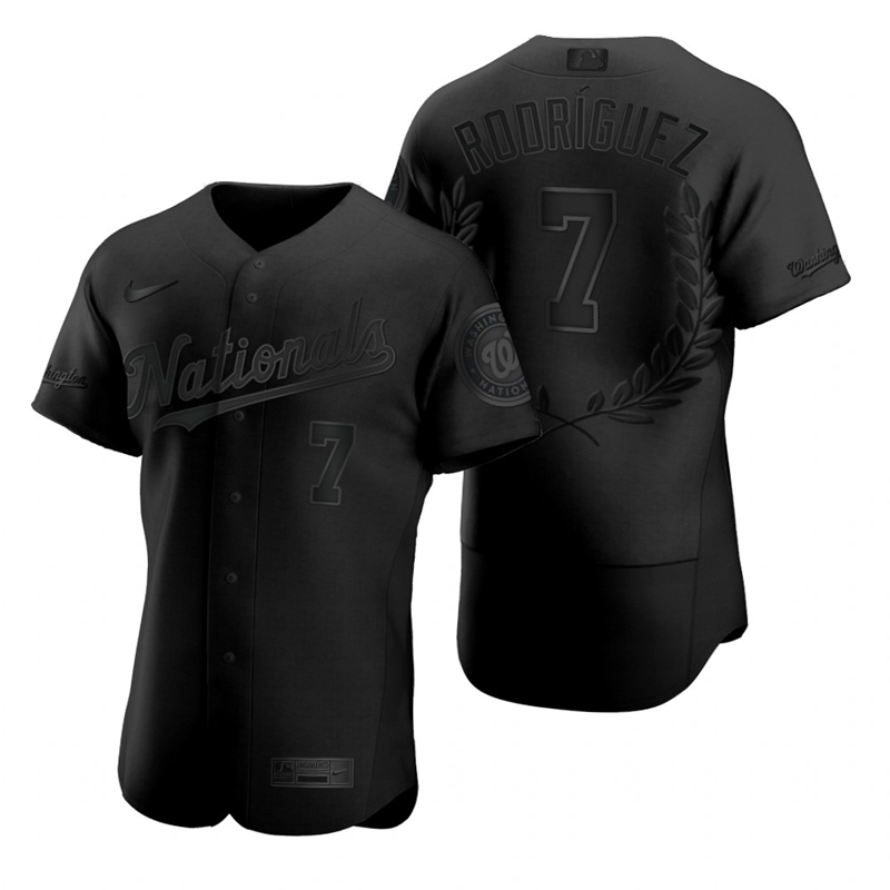 Wholesale Washington Nationals 7 Ivan Rodriguez Men Nike Black MLB MVP Limited Player Edition Jersey