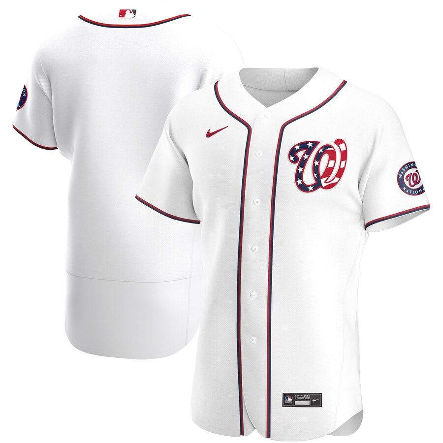 Wholesale Washington Nationals Men Nike White Alternate 2020 Authentic MLB Jersey