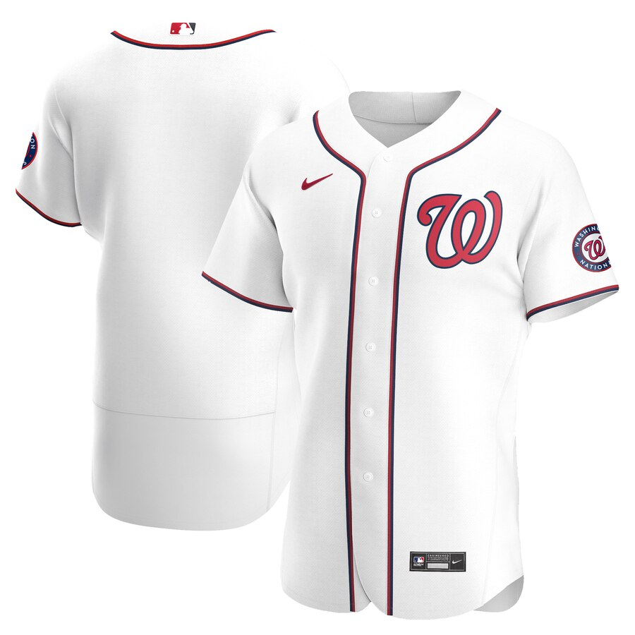 Wholesale Washington Nationals Men Nike White Home 2020 Authentic Team MLB Jersey