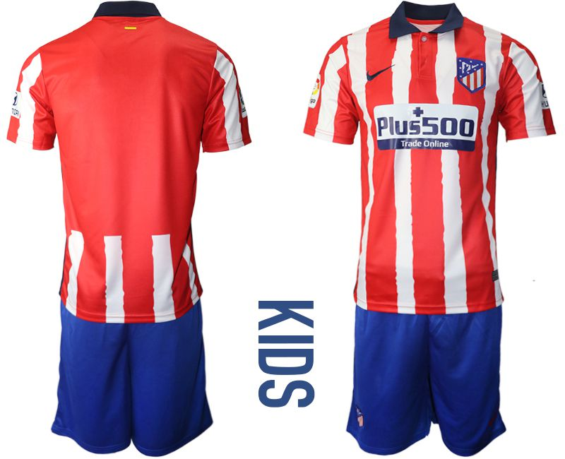 Wholesale Youth 2020-2021 club Atletico Madrid home red Soccer Jerseys