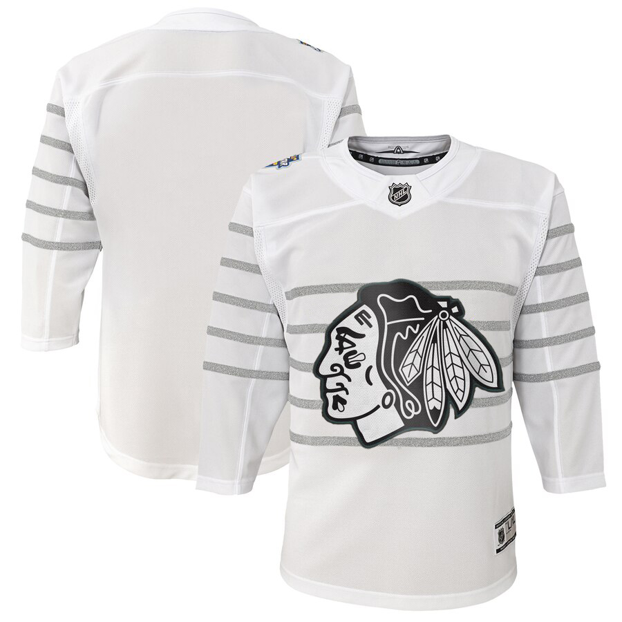 Wholesale Youth Chicago Blackhawks White 2020 NHL All-Star Game Premier Jersey