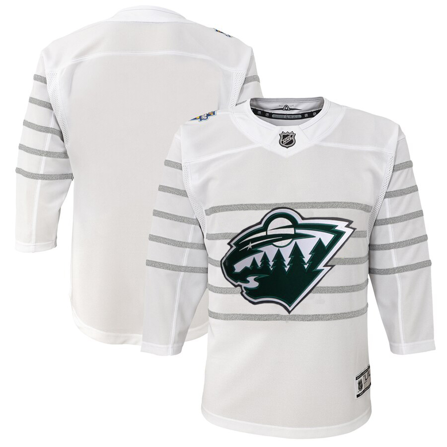 Wholesale Youth Minnesota Wild White 2020 NHL All-Star Game Premier Jersey