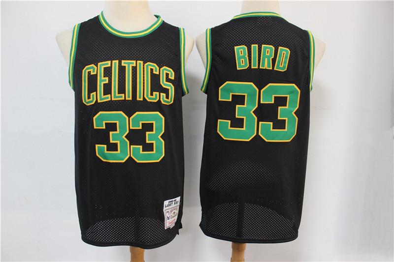 Wholesale 2020 Men Boston Celtics 33 Bird Black Adidas NBA Jersey Print